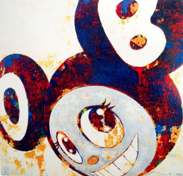 Takashi Murakami Prints for sale - And then, and then, and then (rust blue)  https://www.artetrama.com/en/artworks/takashi-murakami-and-then-and-then-and-then-rust-blue  #murakami #takashimurakami #pop #dob #print #superflat #andthenandthenandthen