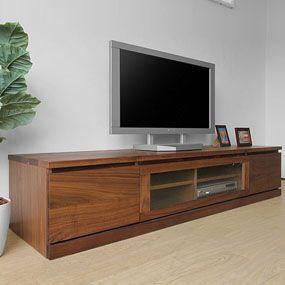 prison-tv180 ウォールナット無垢材を使用したシンプルなデザインのテレビボード