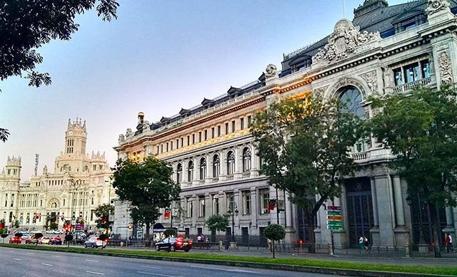 Bank of SPAIN. MADRID  #madrid #spain #architecture #avenue #bank #sunset #goodevening #city #europe #europa #spanien #travelgram #travel #trip #urban #spagna #classic #elegance #majestic #building #eclectic #beautiful #view #stunning #soft #picoftheday