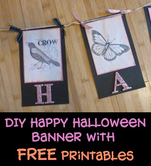 DIY Happy Halloween Banner and Free Printables