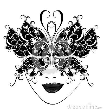 Carnival mask. Butterfly masks for a masquerade. by Marina99, via Dreamstime