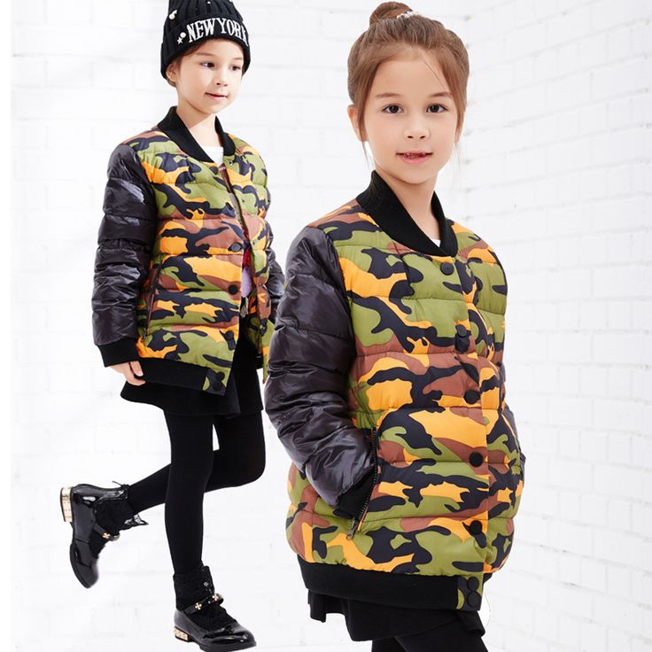 >> Click to Buy << Girl Camouflage Jacket Children's winter Jacket Parka Girl Jacket Winter Coat Short Sections Snowsuit Kid Girl Winter Outerwear #Affiliate