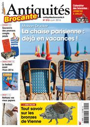 If you prefer paper over an internetsite (brocabrac. fr) you can buy a monthly magazine in France: Antiquites-brocante with the monthly agenda of brocantes all over France, and nice illustrated articles about collectables and antiques.