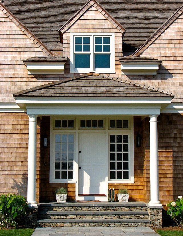 #Front #Door Ideas Front Door: Stones Step, Dutch Doors, Houses Ideas, Aquidneck Property, Front Doors, Front Entry, Shingle Farmhouse, Photo, Front Step