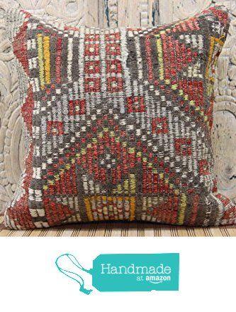 Traditional kilim pillow cover 16x16 Handwoven Kilim pillow cover Decorative Kilim Pillow cover Kilim Ethnic Pillow cover Tribal Pillow Cover from Kilimwarehouse http://www.amazon.com/dp/B019CM2VOE/ref=hnd_sw_r_pi_dp_Bj.Bwb0HC9S6B #handmadeatamazon