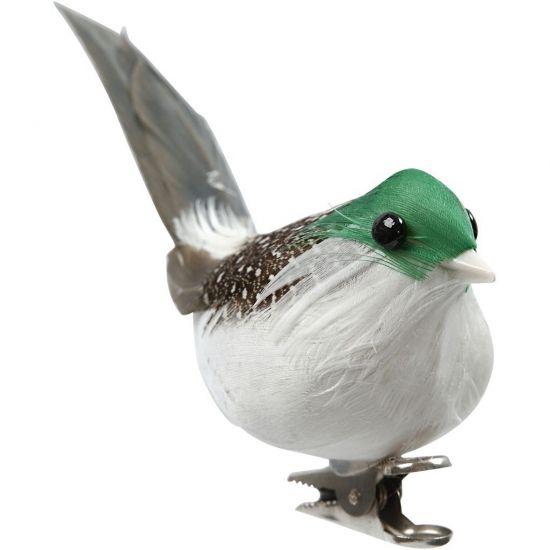 Bloemschik decoratie vogels groen  Decoratie vogels 3 stuks. Doosje met 3 groene decoratie vogels. Formaat: ongeveer 45 cm. Te bevestigen met een klem. Te gebruiken als decoratie of bijvoorbeeld kerstversiering.  EUR 2.95  Meer informatie