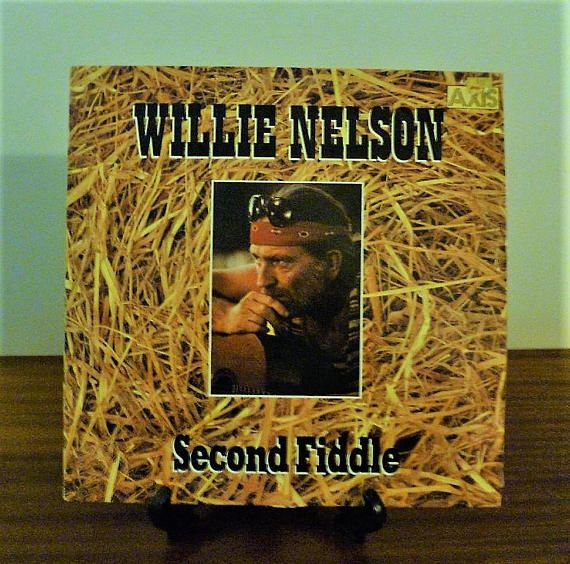 """$15     Vintage 1985 Willie Nelson """"Second Fiddle"""" Vinyl LP Compilatiom Album Released by Liberty Records / Country Music"""