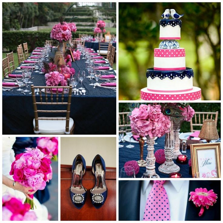 Blue And Pink Wedding Ideas: Hot Pink And Navy Blue Wedding