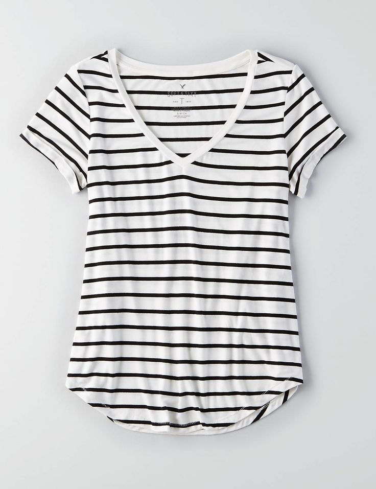 AEO Soft & Sexy Favorite T-Shirt , Black | American Eagle Outfitters