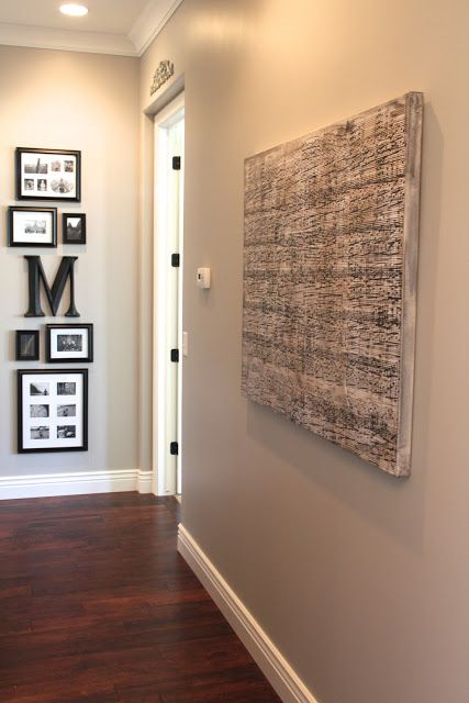 DIY Sheet Music Artwork, Large Canvas + sheet music copied and blown up at OfficeMax