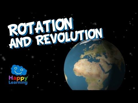 Rotation and Revolution of Earth | Educational Video for Kids - YouTube