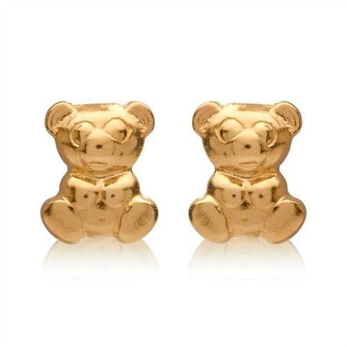 Stecker aus 375er Gold mit Teddybär-Motiv GE0245 http://www.thejewellershop.com/ #teddy #teddybär #gold #ohrstecker #kids #kinderohrringe
