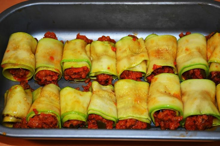 Canelones de calabacin | Cocina