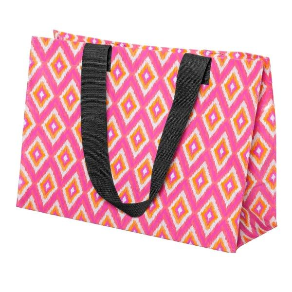 Wholesale pink orange white reusable tote bag up lbs water resistant embroidery