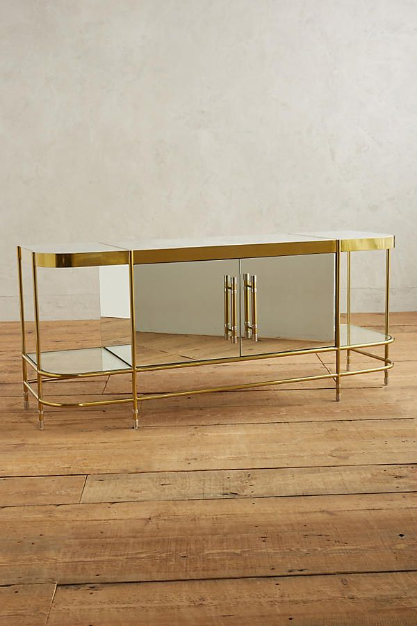 Slide View: 1: Brass Parabola Console 6' long