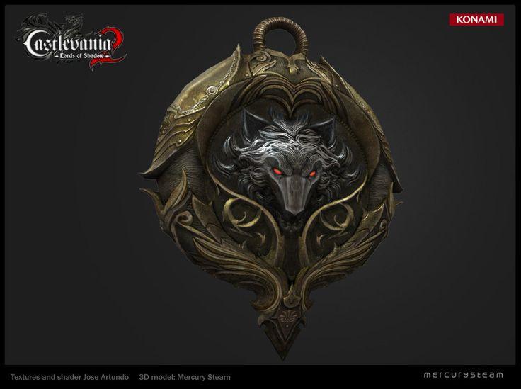 Wolf amulet, Jose Artundo on ArtStation at https://www.artstation.com/artwork/wolf-amulet