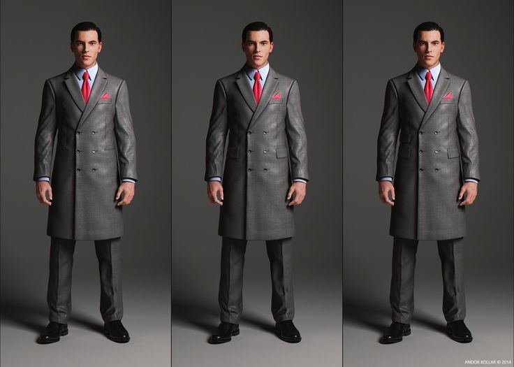 Double Breasted Overcoat with notched lapel and pocket variations