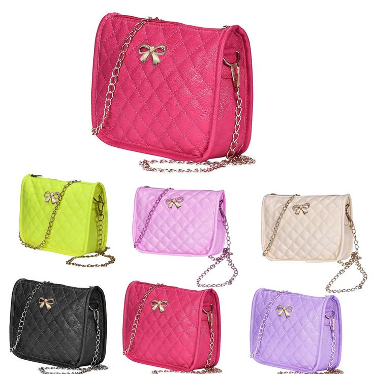 Fashion Women Shoulder Bag Leather Bow Tote Purse Casual Messenger Cross Body