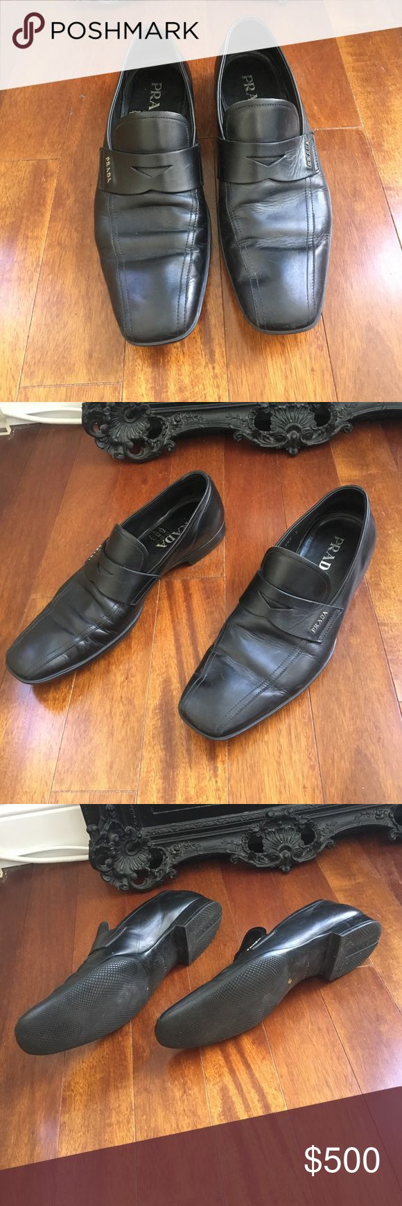 Prada Black Leather Loafers - Size 7 Prada Black Leather Loafers - Size 7 Minor scuffs and creasing Prada Shoes Loafers & Slip-Ons