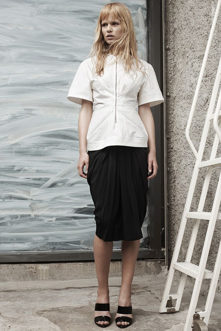 Alexander Wang Resort 2014 - The details on the top and skirt is spectacular! In love with this skirt!