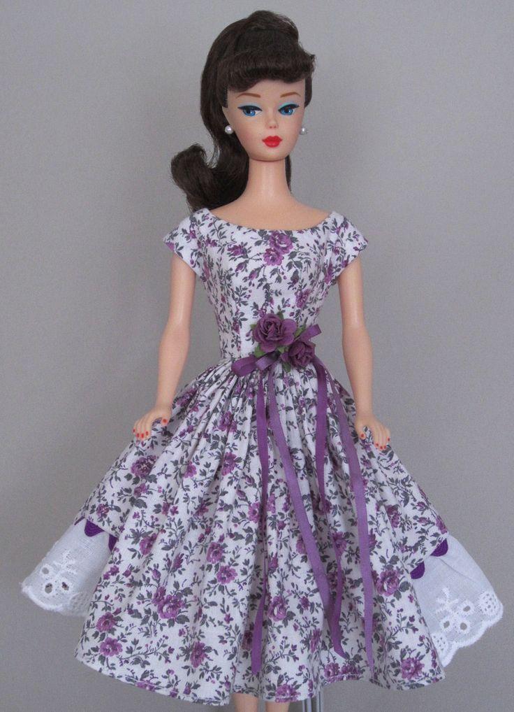 Plum Perfect - Vintage Barbie Doll Dress Reproduction Barbie Clothes on eBay http://www.ebay.com/usr/fanfare1901?_trksid=p2047675.l2559
