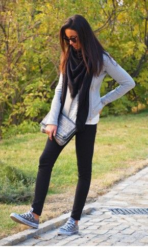 cute & comfy: Studs Conver, Black Skinny, Style, Weekend Wear, Fall Wint, Casual Fall, Fall Outfits, Fall Fashion, Casual Outfits