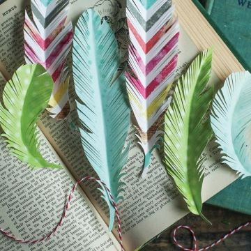 Paper crafted feathers - paper