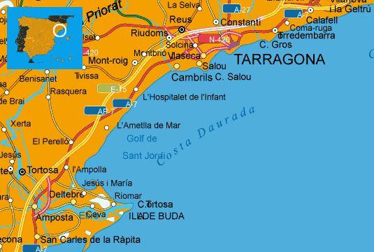 Costa Daurada tourist map Future destinations Pinterest