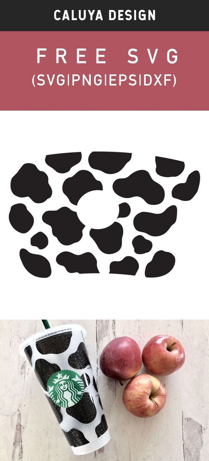 Free Cow Starbucks Wrap SVG, PNG, EPS & DXF by Caluya