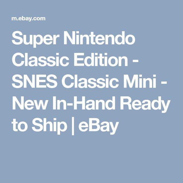 Super Nintendo Classic Edition - SNES Classic Mini - New In-Hand Ready to Ship  | eBay