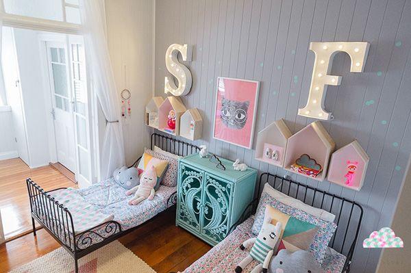 iki kardeş için modern çocuk odası