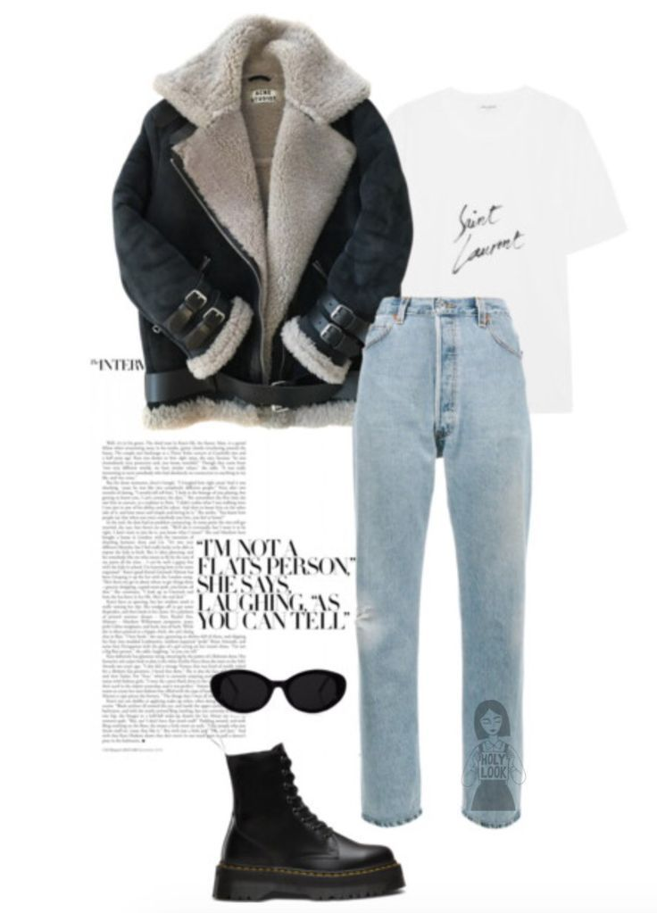Outfit Ideas Grunge 90s Style OOTD Inspo Leather Jacket Doc Martens Denim T Shirt Inspo