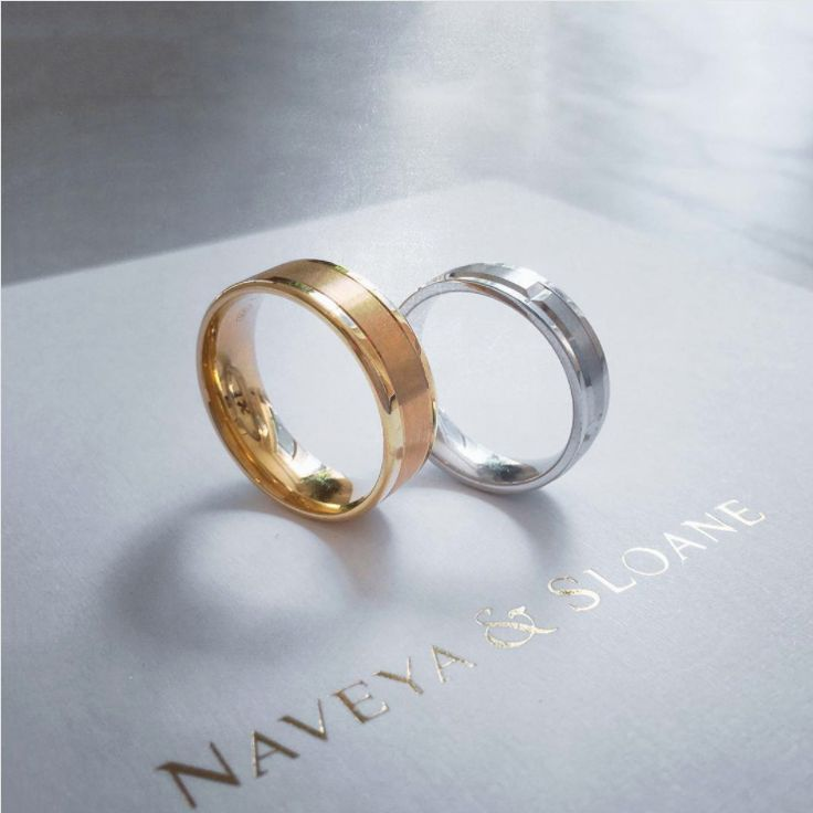 Men's wedding bands. Naveya & Sloane wedding bands, made to order in Auckland, New Zealand.