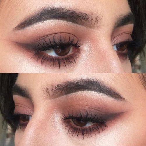 Dark makeup looks for brown eyes