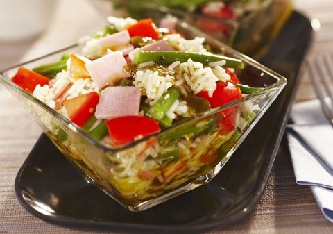 Salade de riz au jambon, tomates et haricots verts | Croquons La Vie - Nestlé