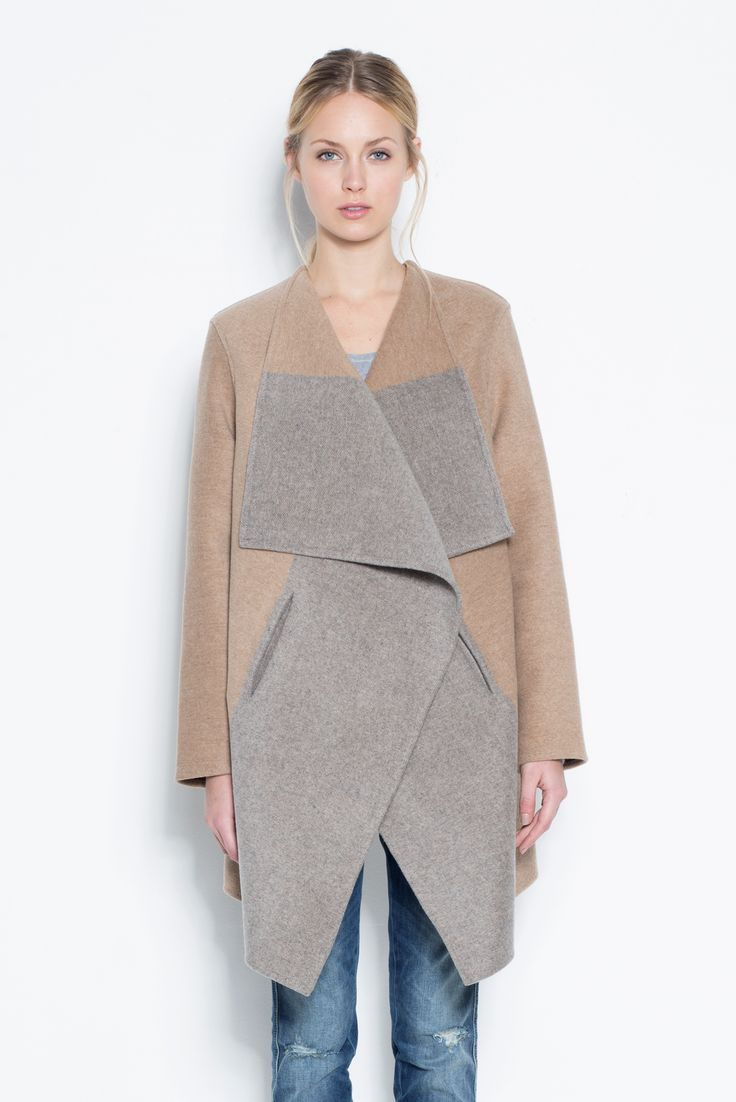 Cashmere Color Block Coat