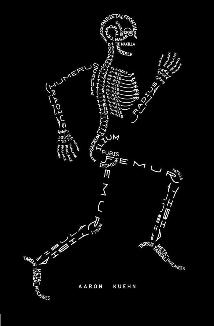Caligrama Cuerpo humano en Ingles