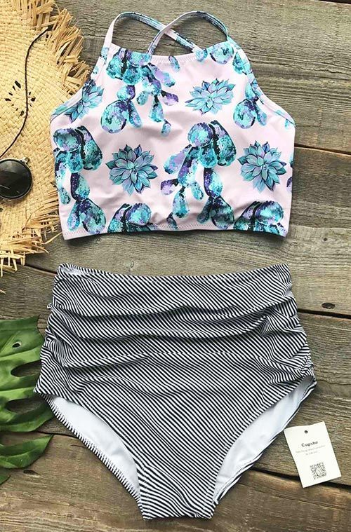Live life on the beach. This floral swimwear will flaunt their hot curves and figures on summer beaches. You can do it with this pieces. Shop now.