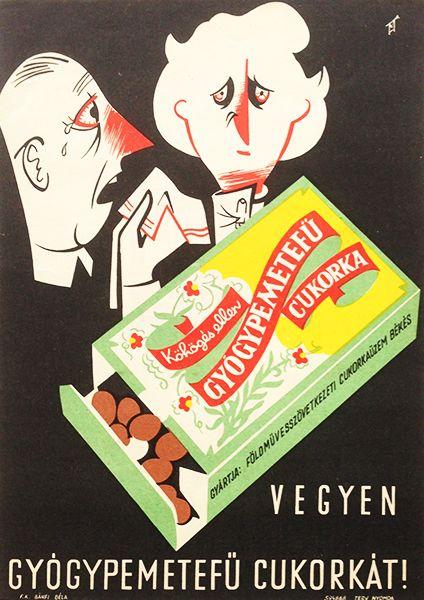 Buy horehound candy! / Vegyen gyógypemetefű cukorkát! 1959