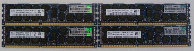 32gb 4x8gb PC3-10600R-071 DDR3-1333MHz ECC Server Memory HP DELL IBM Lenovo
