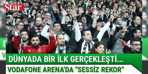 Dünyada bir ilk... Vodafone Arenada sessiz rekor : Beşiktaş - Benfica maçı başlama düdüğünden itibaren 1 dakika boyunca işaret diliyle sessiz tezahürat yapıldı.  http://www.haberdex.com/turkiye/Dunyada-bir-ilk-Vodafone-Arena-da-sessiz-rekor-/95037?kaynak=feeds #Türkiye   #sessiz #itibaren #düdüğünden #boyunca #işaret