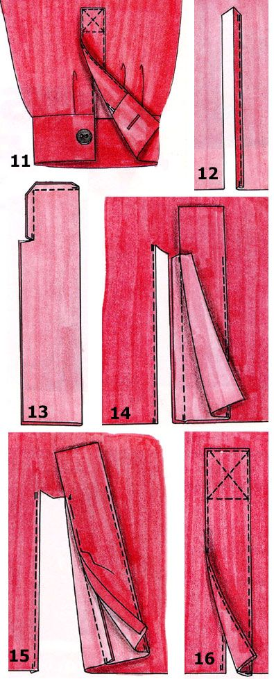Обработка разреза рукава для застежки | pokroyka.ru-уроки кроя и шитья