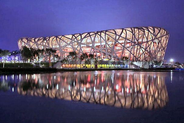 Beijing National Stadium in  - China