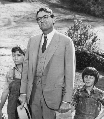 Picture from To Kill a Mockingbird  ~ one of my favorite movies ever!   Gregory Peck/Atticus Finch