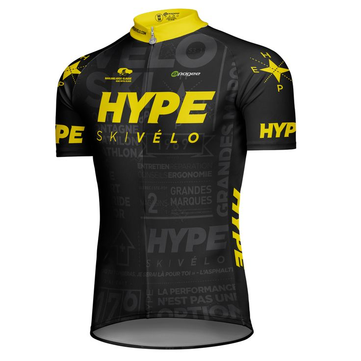 Cycling jersey - Designed and made by Apogee Sports.   Client : Hype Ski Vélo