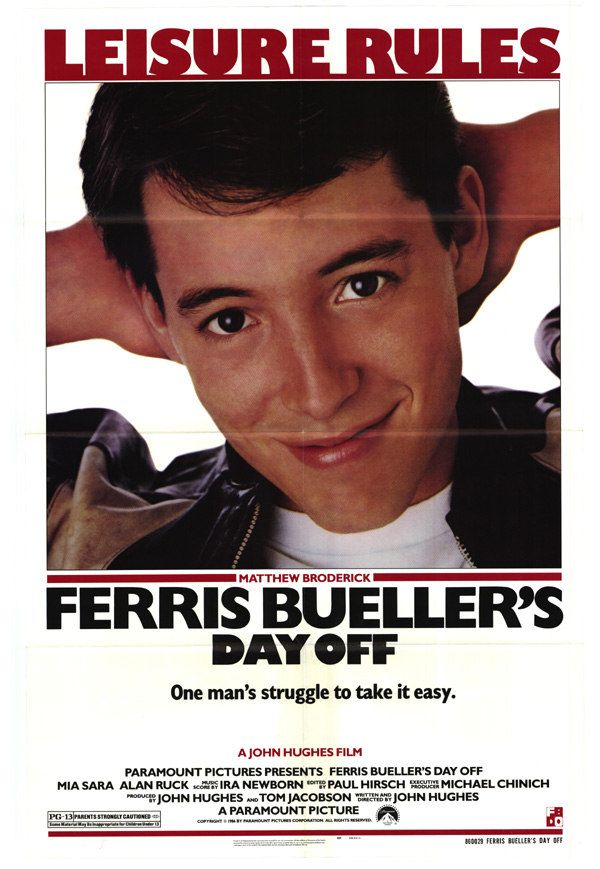 """""""Life moves pretty fast. If you don't stop and look around once in awhile, you could miss it."""" Ferris Bueller (1986)"""