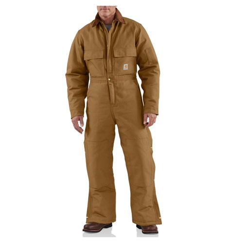 carhartt men s coverall duck arctic quilt lined mens on insulated overalls id=69972