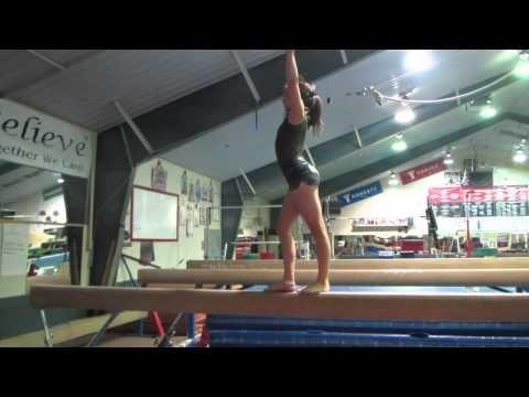 ▶ USAG Level 2 Gymnastics Beam Routine - YouTube