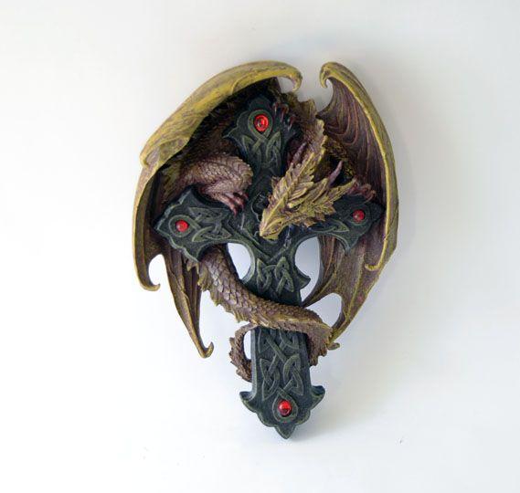 Dragon onto a cross   Size: 24 cm