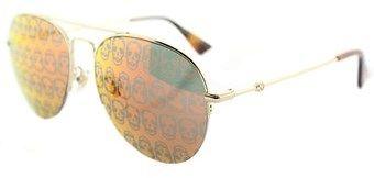 Gucci Gg0107s 002 Gold Aviator Sunglasses.
